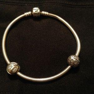 Pandora bracelet with beads